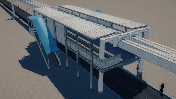 シティーズ・スカイライン Suspended Monorail Station シンプルなモノレール駅 MOD