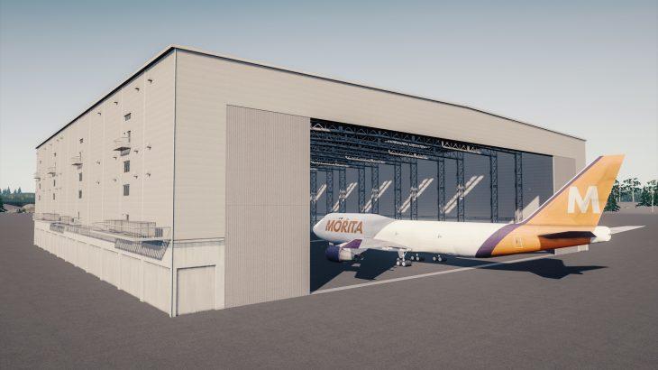 シティーズ・スカイライン Airport Hangar 飛行機の格納庫 MOD