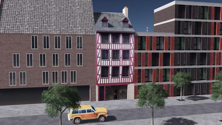 シティーズ・スカイライン Rouen Half-timbered House 1 フランス・ルーアンの半木造建物