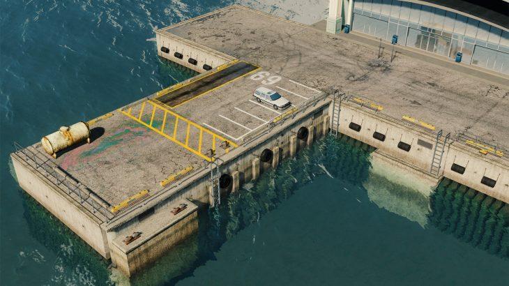 シティーズ・スカイライン Docks 港に埠頭を追加するMOD