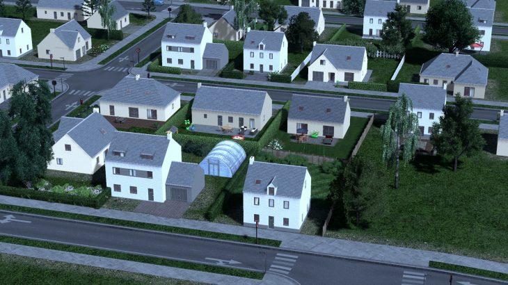 シティーズ・スカイライン French Suburban House Pack フランス郊外の住宅パック