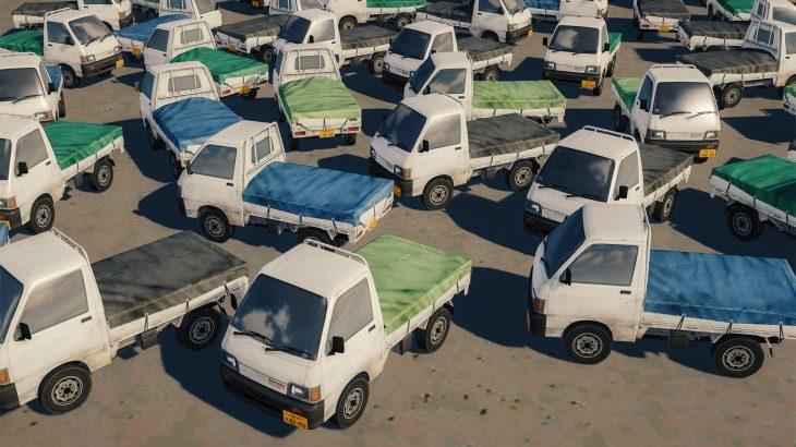 シティーズ・スカイライン Daihatsu Hijet Industrial ダイハツ・ハイゼット(軽トラ)シート付き追加MOD