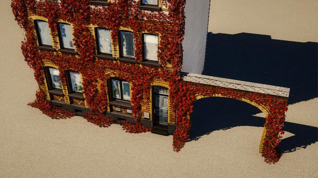 シティーズ・スカイライン Red Ivy 赤いツタの外装用MOD