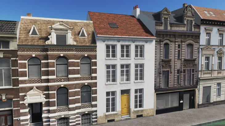 シティーズ・スカイライン Brussels House 1 ベルギー・ブリュッセルの伝統的建物 MOD