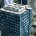 シティーズ・スカイライン ONE Office Building 1F部分が特徴的なオフィスビル