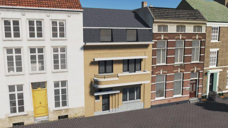 シティーズ・スカイライン Nivelles House 3 ベルギー・ニヴェルの伝統的建物 MOD