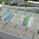 シティーズ・スカイライン Bus Station ガラス張りのバスターミナル