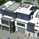 シティーズ・スカイライン Police Station 凝った構造でモダンな警察署