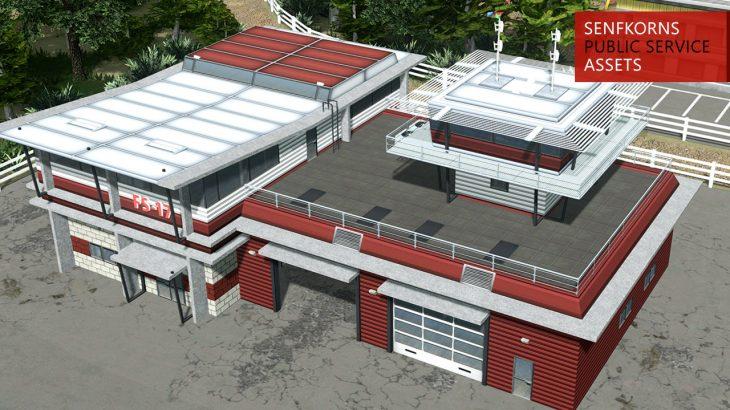 シティーズ・スカイライン Fire Station 17 赤い外装がおしゃれな消防署