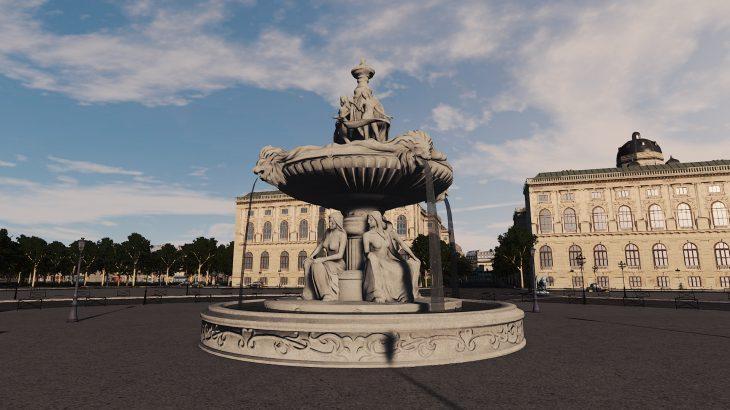 シティーズ・スカイライン French Fountain 1 パリ・コンコルド広場の噴水Mod