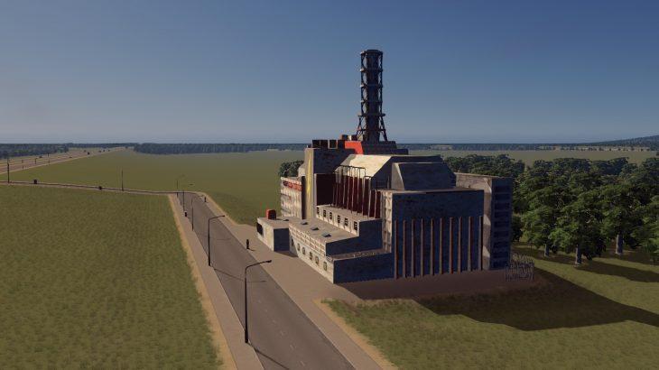 シティーズ・スカイライン nuclear_power_plant チェルノブイリ原子力発電所 Mod
