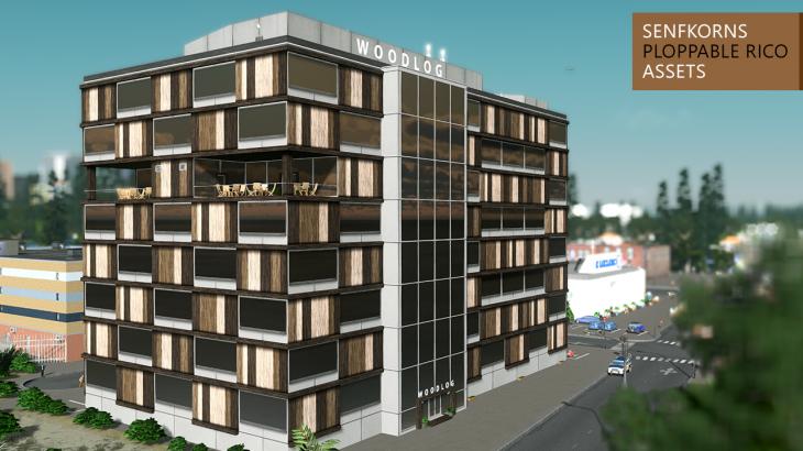シティーズ・スカイライン Woodlog Architects 木目が美しいオフィスビル