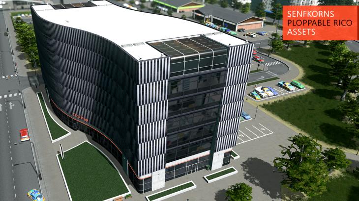 シティーズ・スカイライン Cosine Building 曲線が美しい「コサイン」ビル MOD
