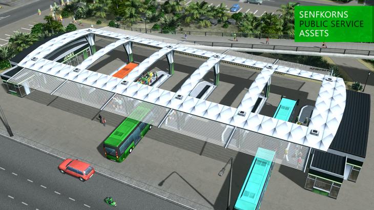 シティーズ・スカイライン Nonstop Bus Terminal 小さめのバスターミナル