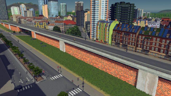シティーズ・スカイライン Elevated Brick Road and Arch Bridge レンガ造りの2車線高架Mod