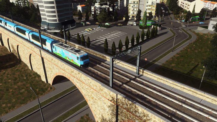 シティーズ・スカイライン Elevated Train Track Over Wall – Part 2 石造りの鉄道高架(アーチ部)Mod