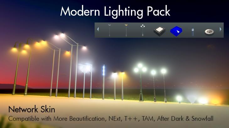 シティーズ・スカイライン Modern Lighting Pack モダンな照明を導入するMod