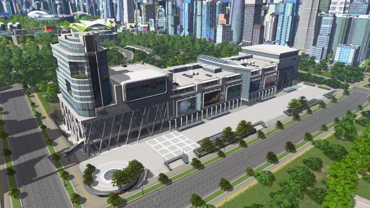 シティーズ・スカイライン Quad's Central World Series 1 高層ビルを組み合わせて巨大複合施設を作るMod
