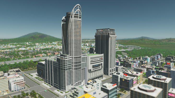 シティーズ・スカイライン Quad's Central World Series 3 高層ビルを組み合わせて巨大複合施設を作るMod