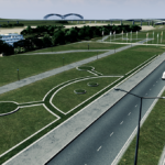 シティーズ・スカイライン Curb Network カーブ対応した縁石を配置