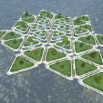 シティーズ・スカイライン Quad's Floating Plazas 近未来的な浮島公園Mod