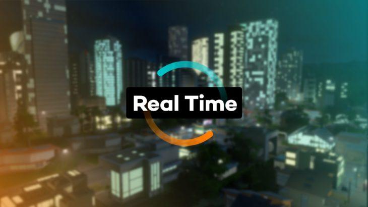 シティーズ・スカイライン Real Time 時間経過と市民生活を調整
