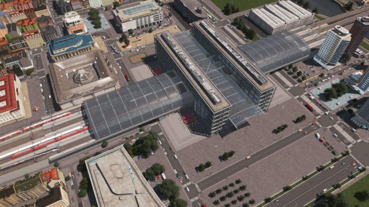 [Mod]シティーズ・スカイライン Central Station アーケードが特徴的な大型駅