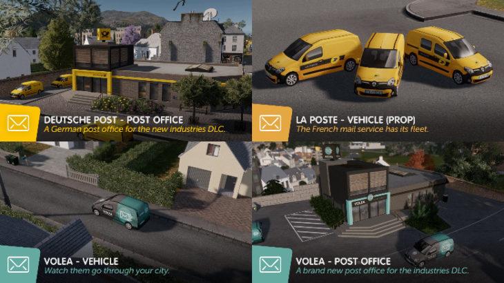 [Mod]新DLC Cities: Skylines – Industries向け、郵便関連Mod10個