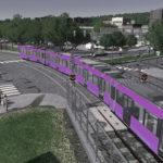 [MOD]シティーズ・スカイライン LRT – Tram Tracks 鉄道用軌道敷のセット