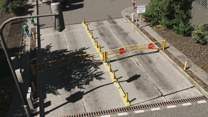 [MOD]シティーズ・スカイライン Pipe Fence and Gate Set パイプフェンスとゲート